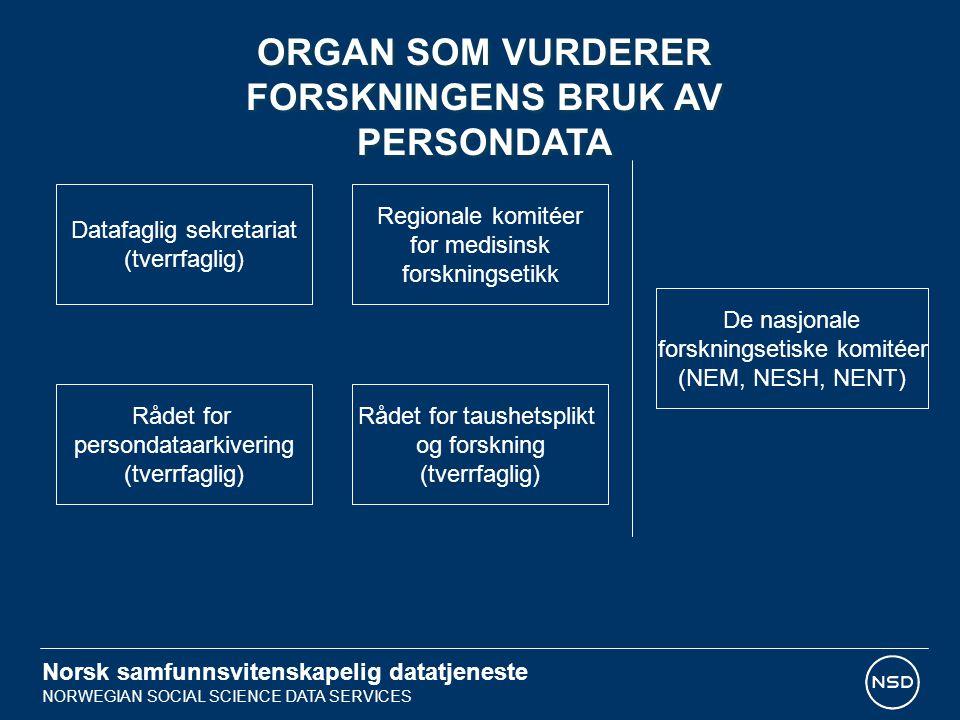 ORGAN SOM VURDERER FORSKNINGENS BRUK AV PERSONDATA