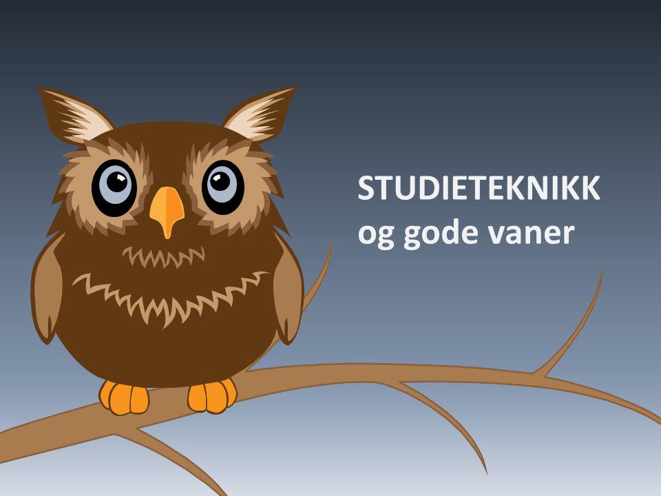 STUDIETEKNIKK og gode vaner