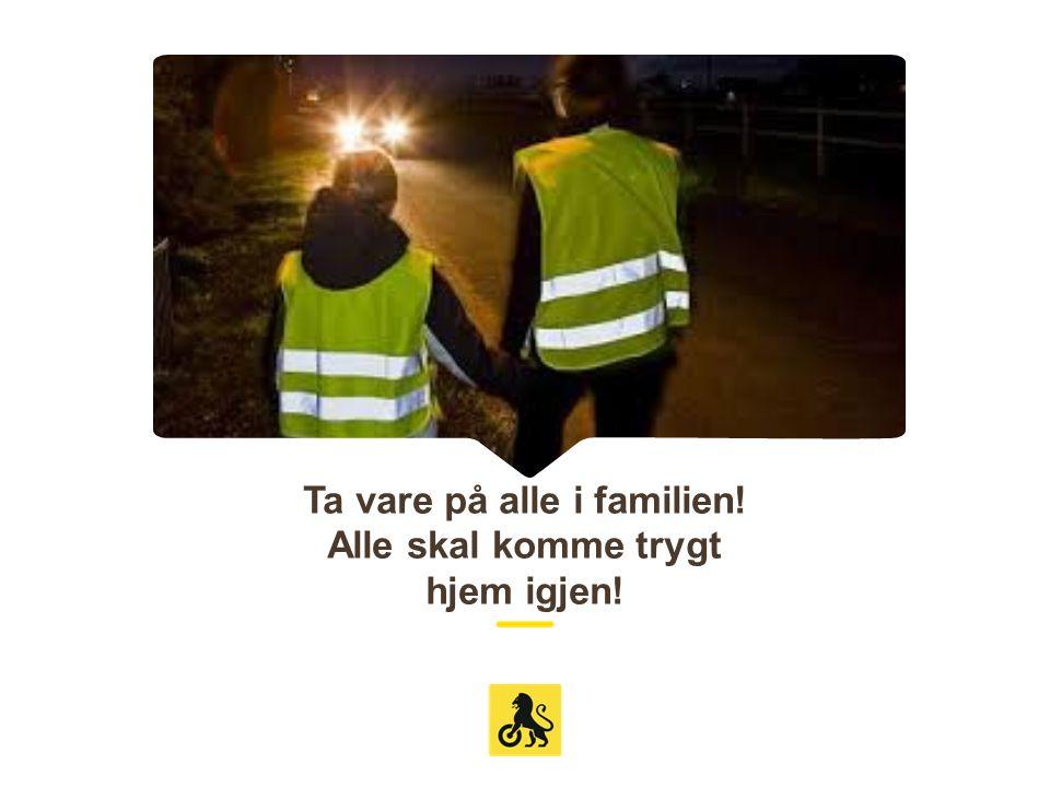 Ta vare på alle i familien! Alle skal komme trygt hjem igjen!