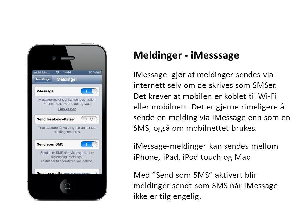 Meldinger - iMesssage
