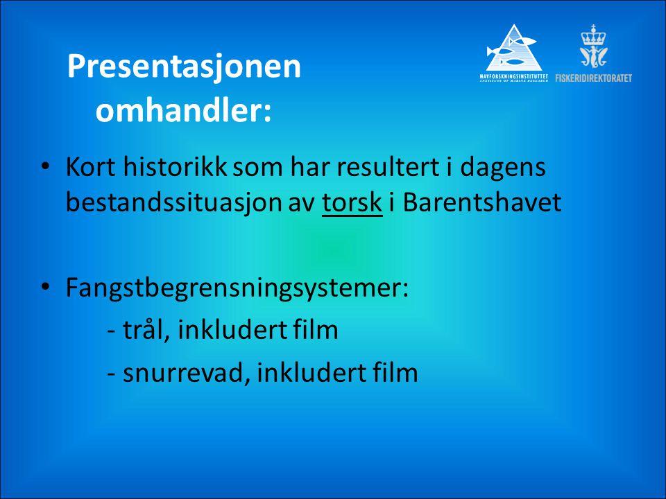 Presentasjonen omhandler: