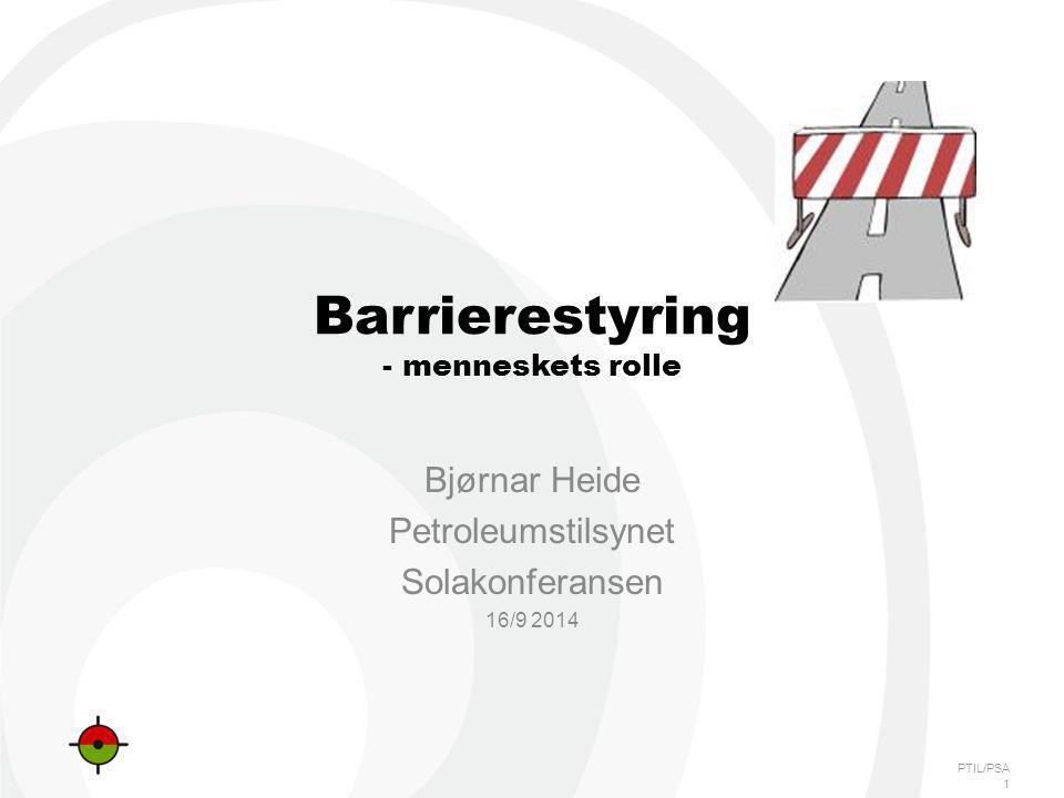Barrierestyring - menneskets rolle