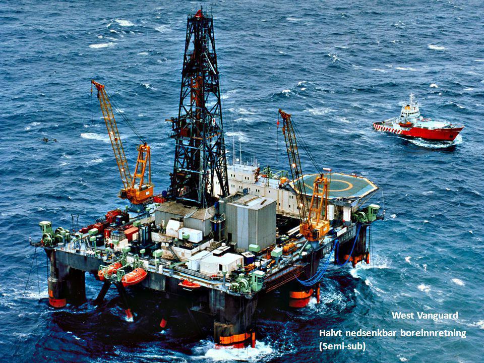 West Vanguard Halvt nedsenkbar boreinnretning (Semi-sub)