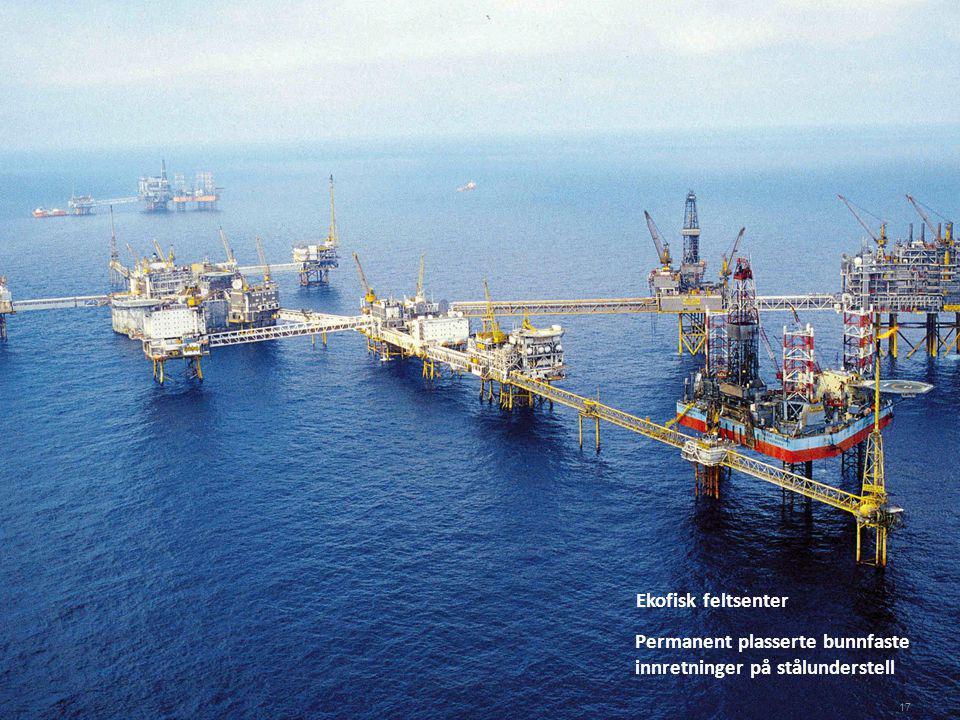 Ekofisk feltsenter Permanent plasserte bunnfaste innretninger på stålunderstell