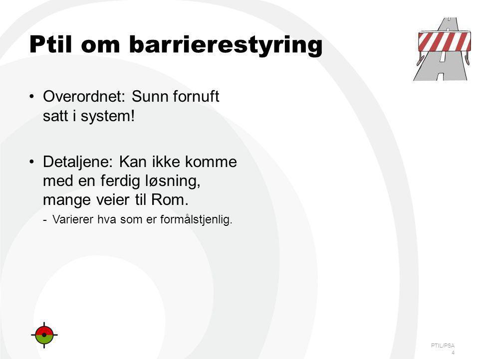 Ptil om barrierestyring