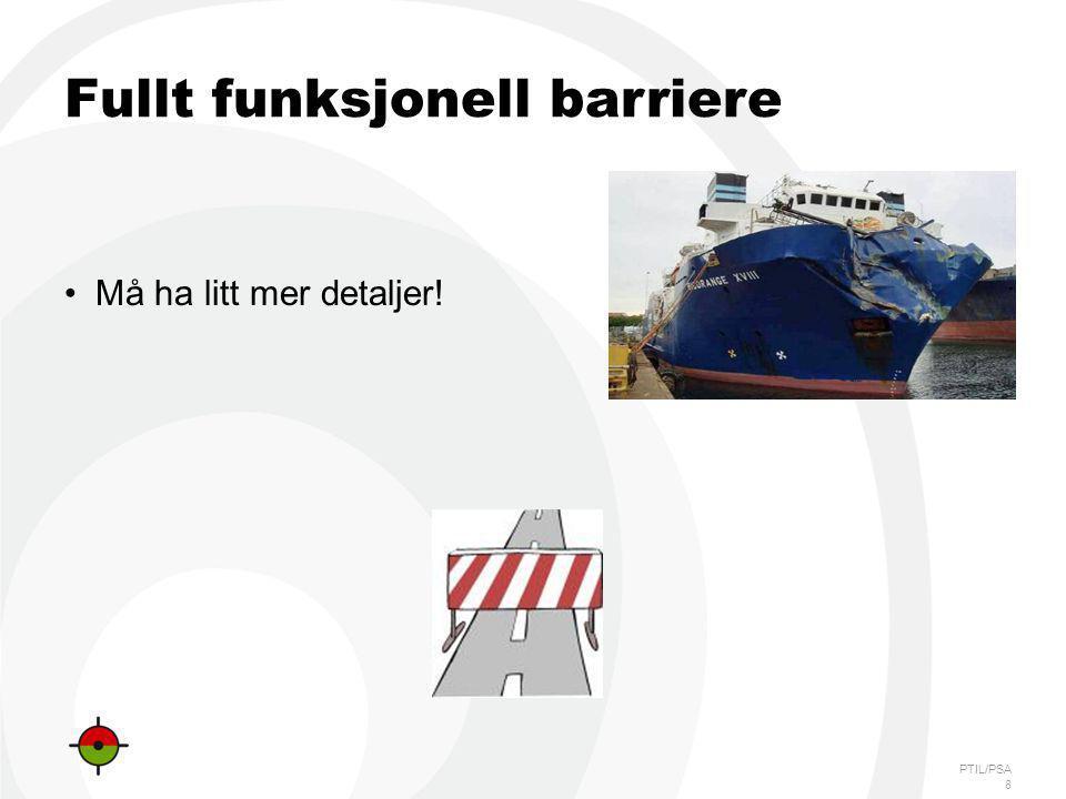 Fullt funksjonell barriere