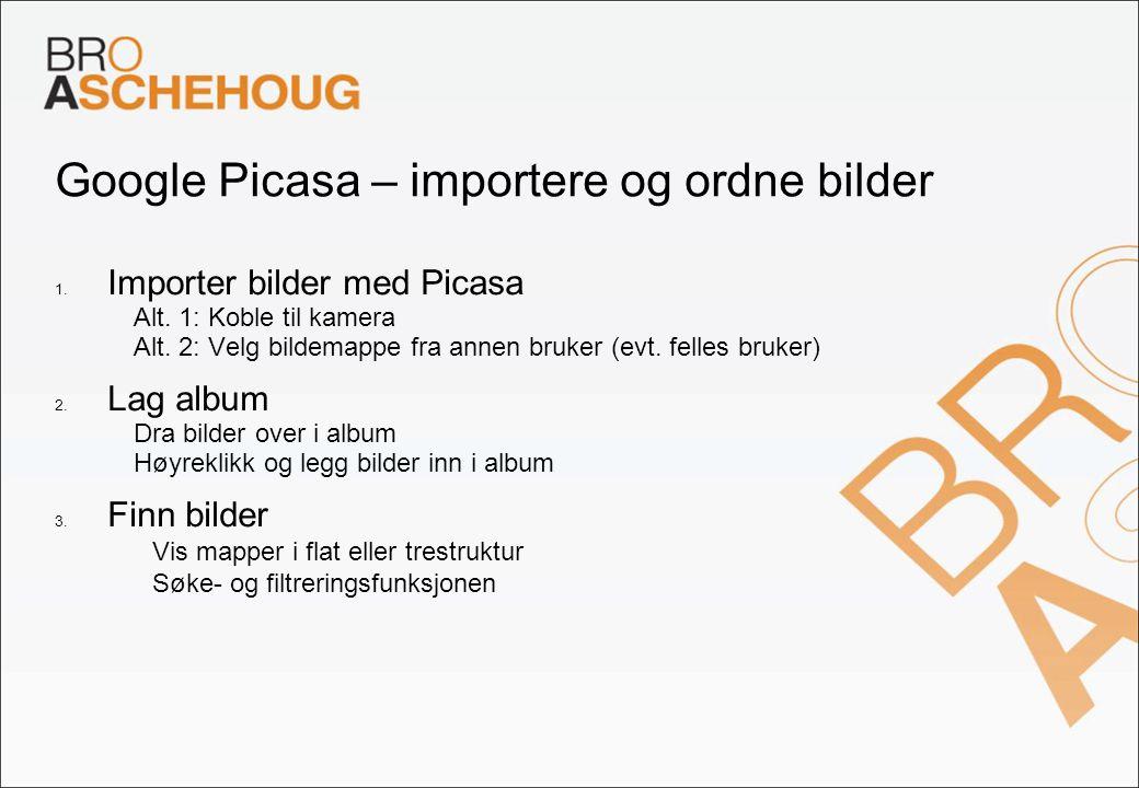 Google Picasa – importere og ordne bilder