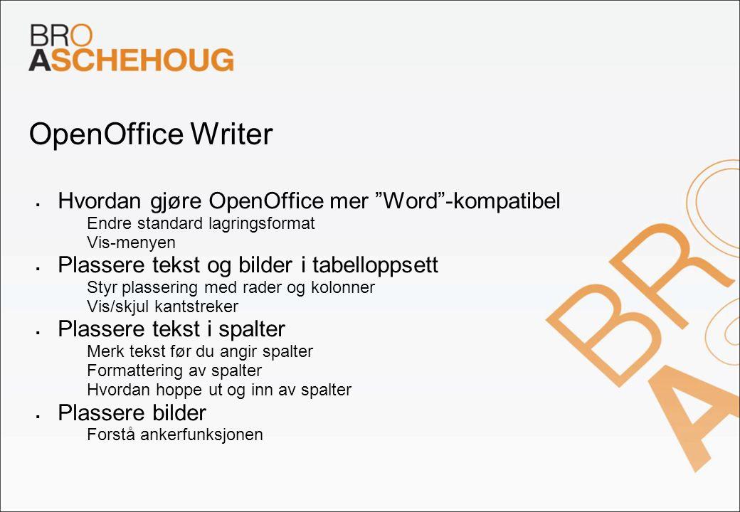OpenOffice Writer Hvordan gjøre OpenOffice mer Word -kompatibel