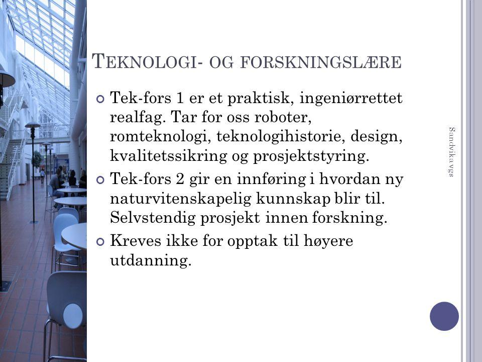 Teknologi- og forskningslære