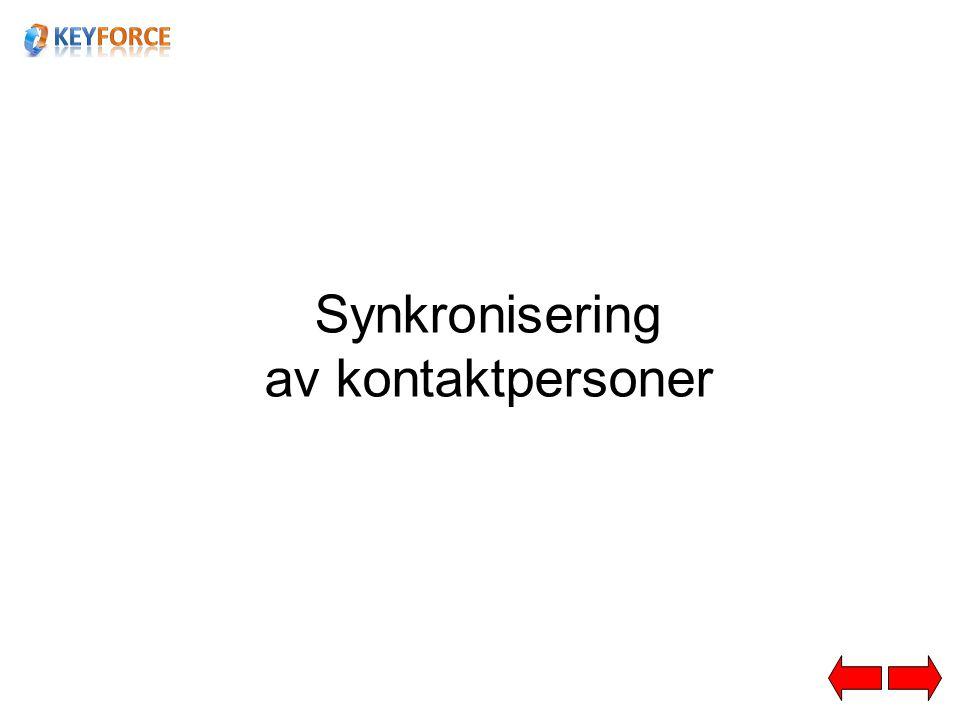Synkronisering av kontaktpersoner