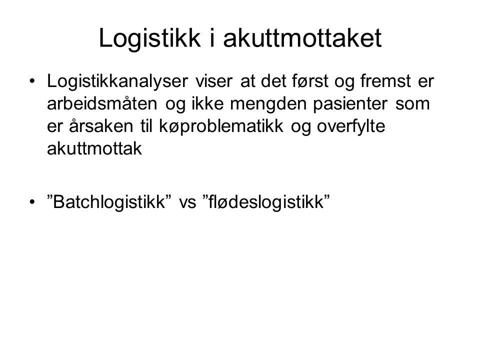 Logistikk i akuttmottaket