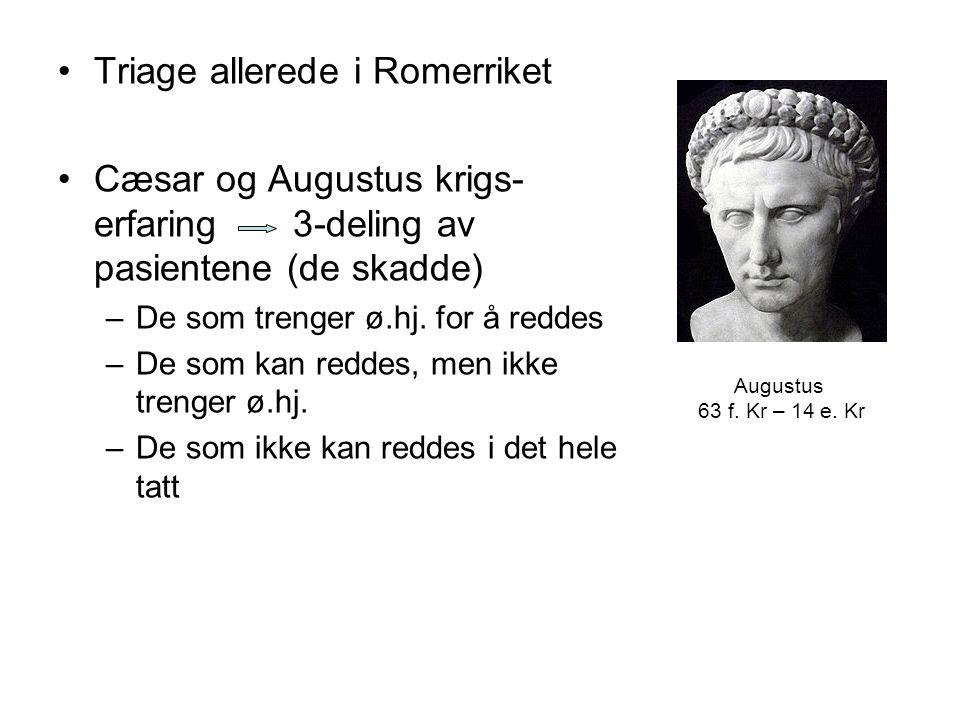 Triage allerede i Romerriket
