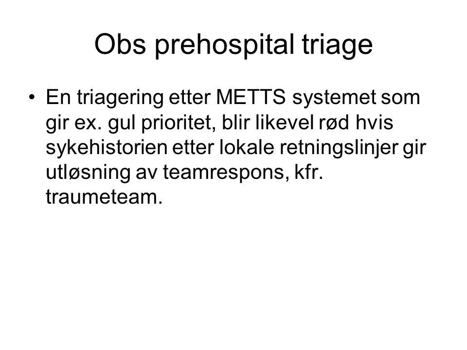 Obs prehospital triage
