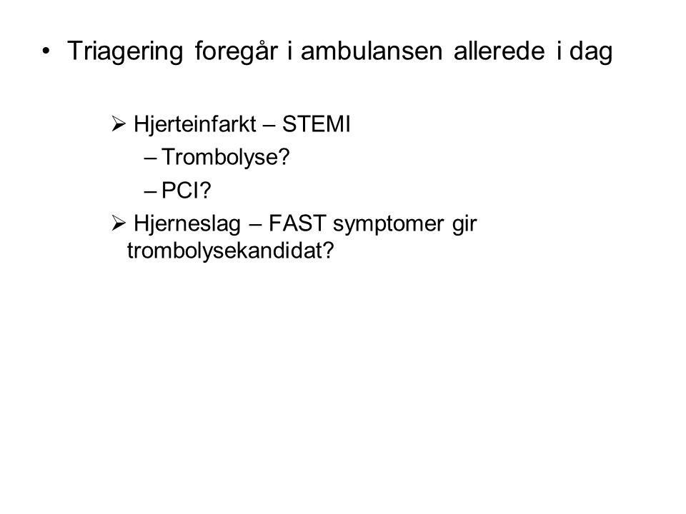 Triagering foregår i ambulansen allerede i dag