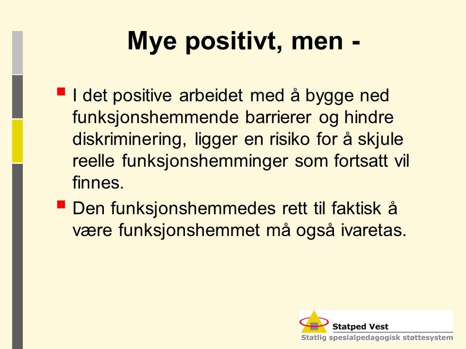 Mye positivt, men -