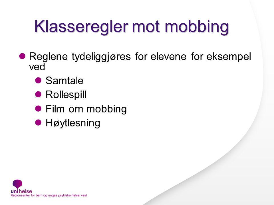 Klasseregler mot mobbing