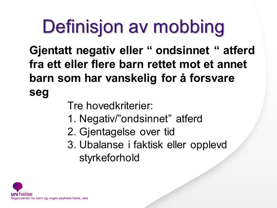 Definisjon av mobbing