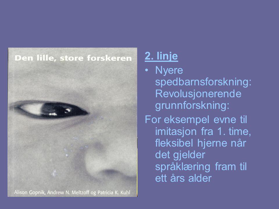 2. linje Nyere spedbarnsforskning: Revolusjonerende grunnforskning: