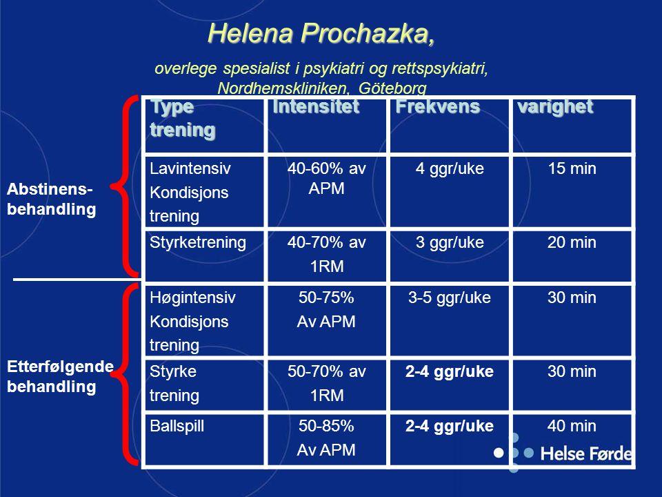 Helena Prochazka, overlege spesialist i psykiatri og rettspsykiatri, Nordhemskliniken, Göteborg