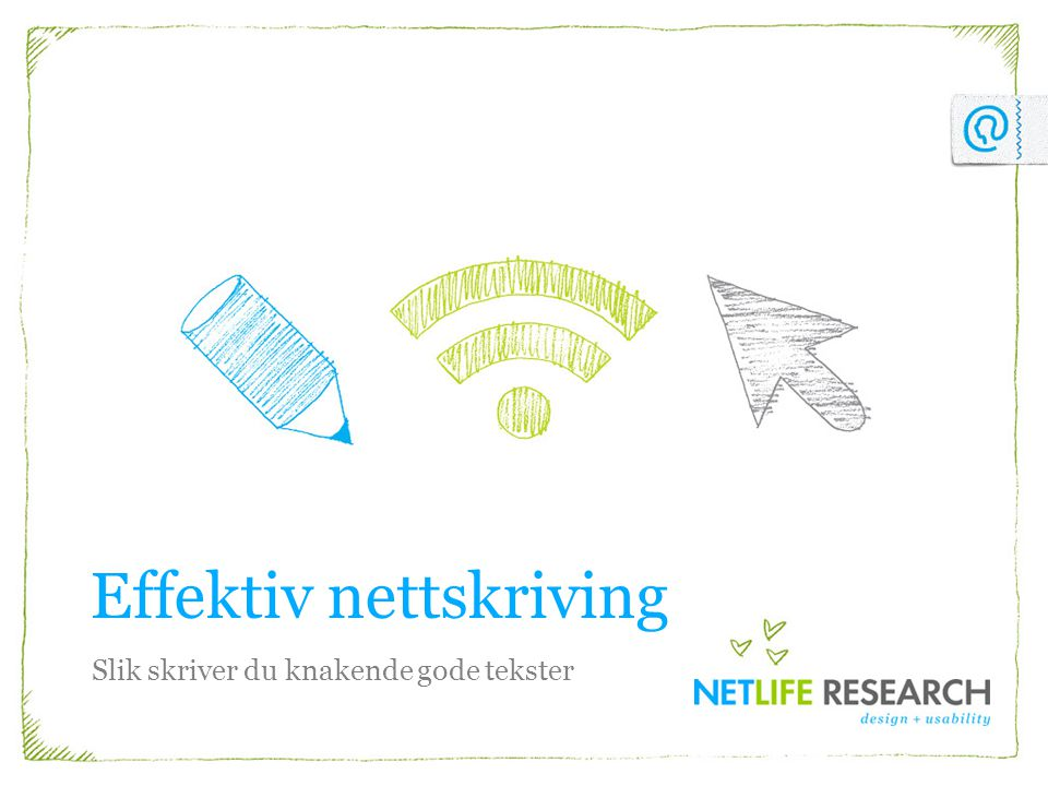 Effektiv nettskriving