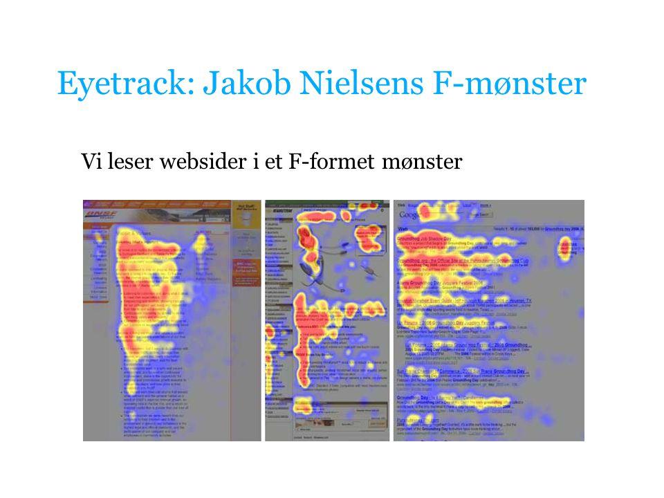 Eyetrack: Jakob Nielsens F-mønster