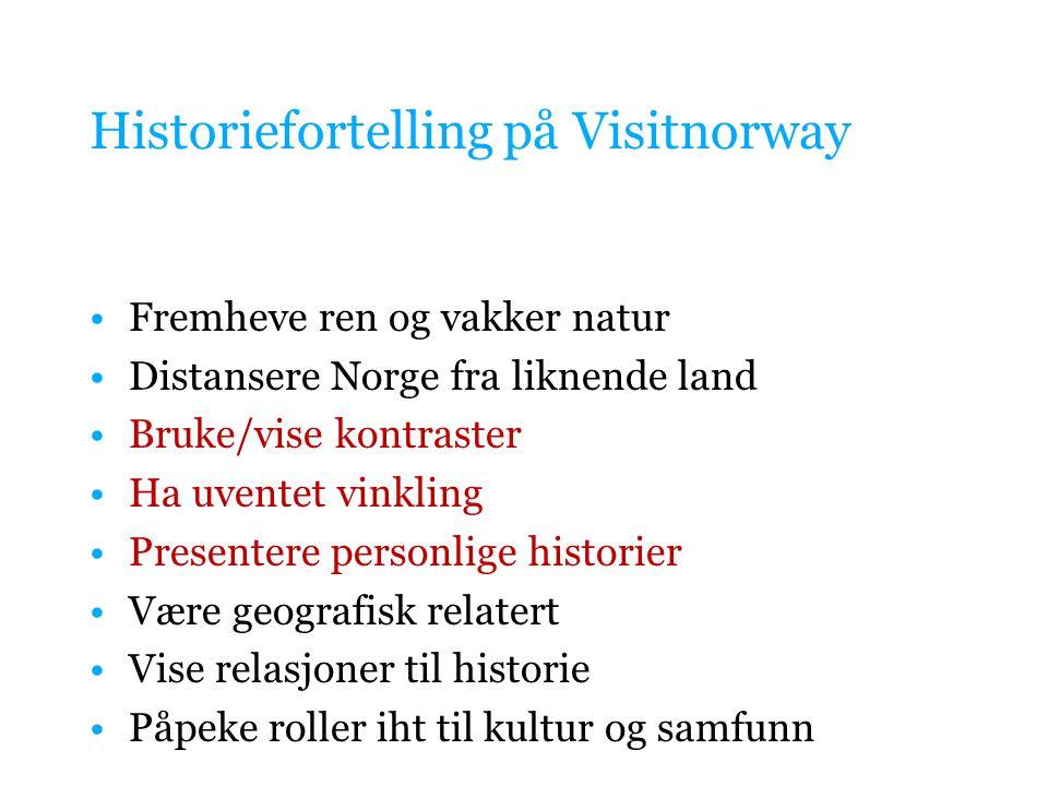 Historiefortelling på Visitnorway