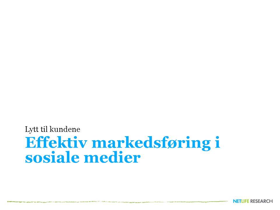Effektiv markedsføring i sosiale medier
