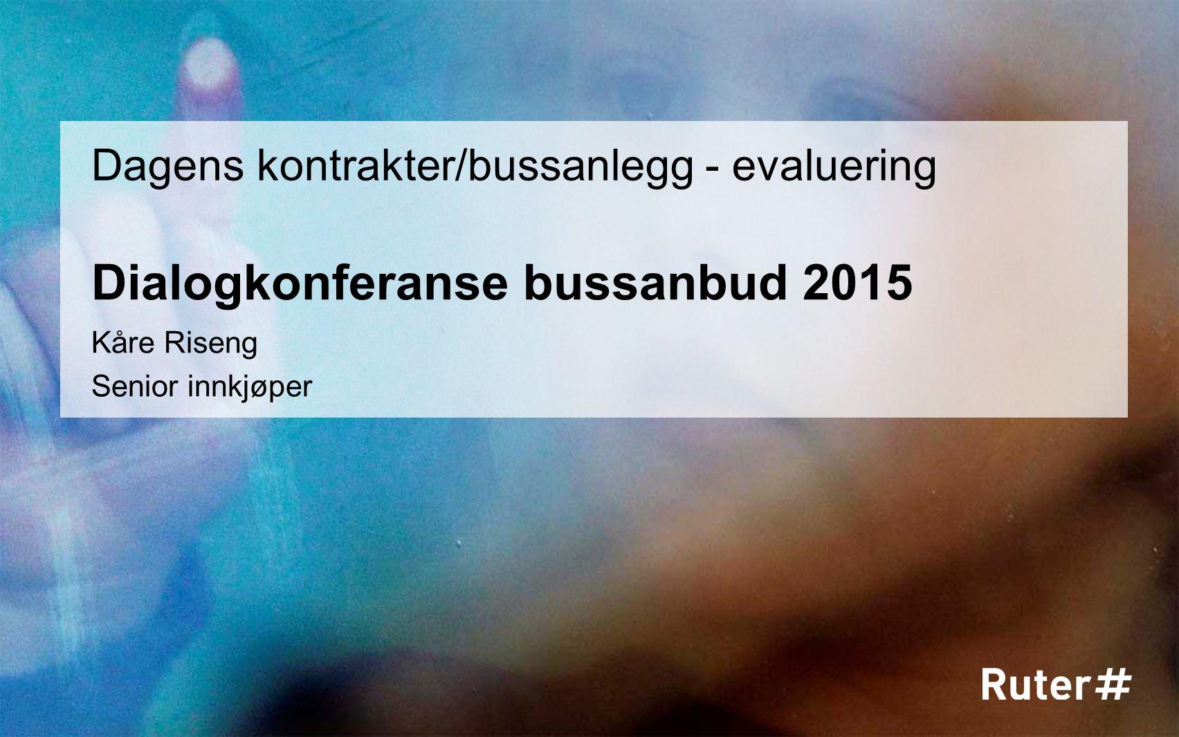 Dialogkonferanse bussanbud 2015