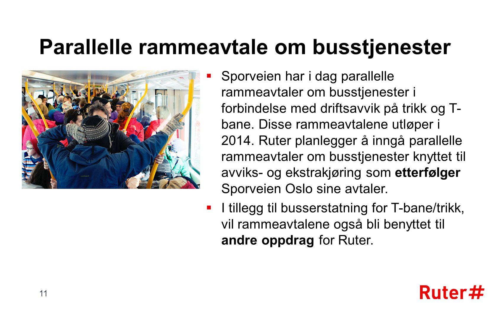 Parallelle rammeavtale om busstjenester