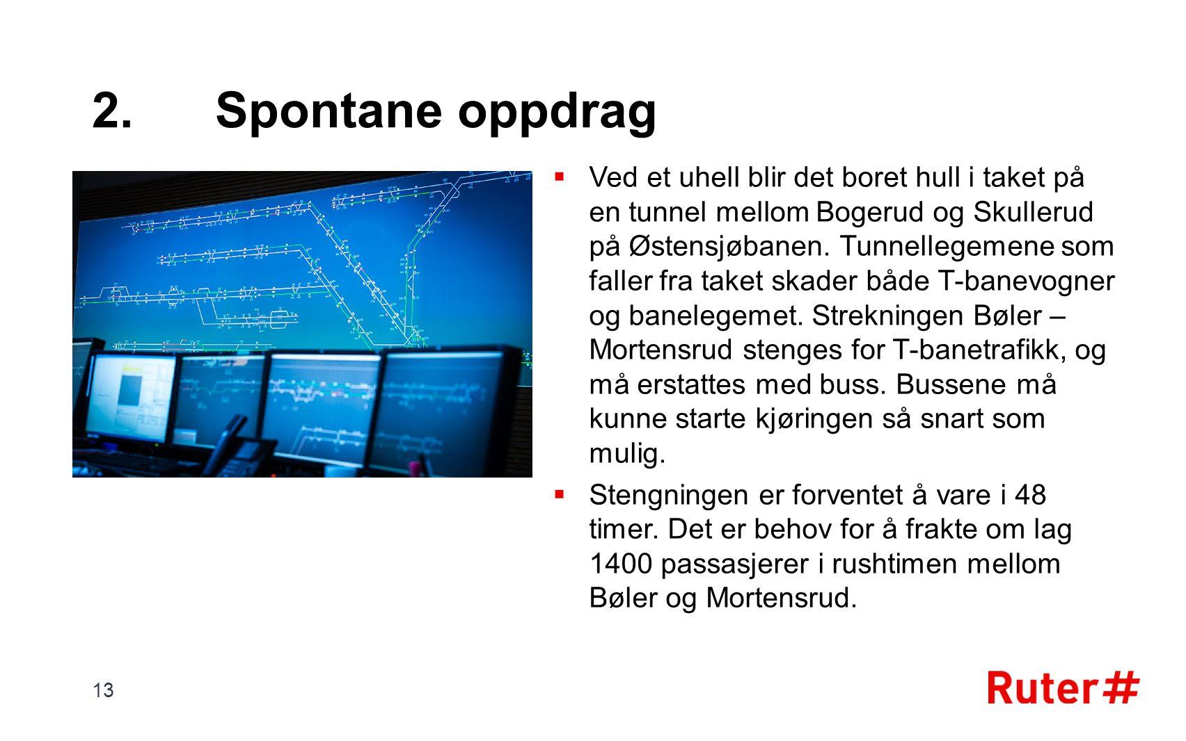 2. Spontane oppdrag