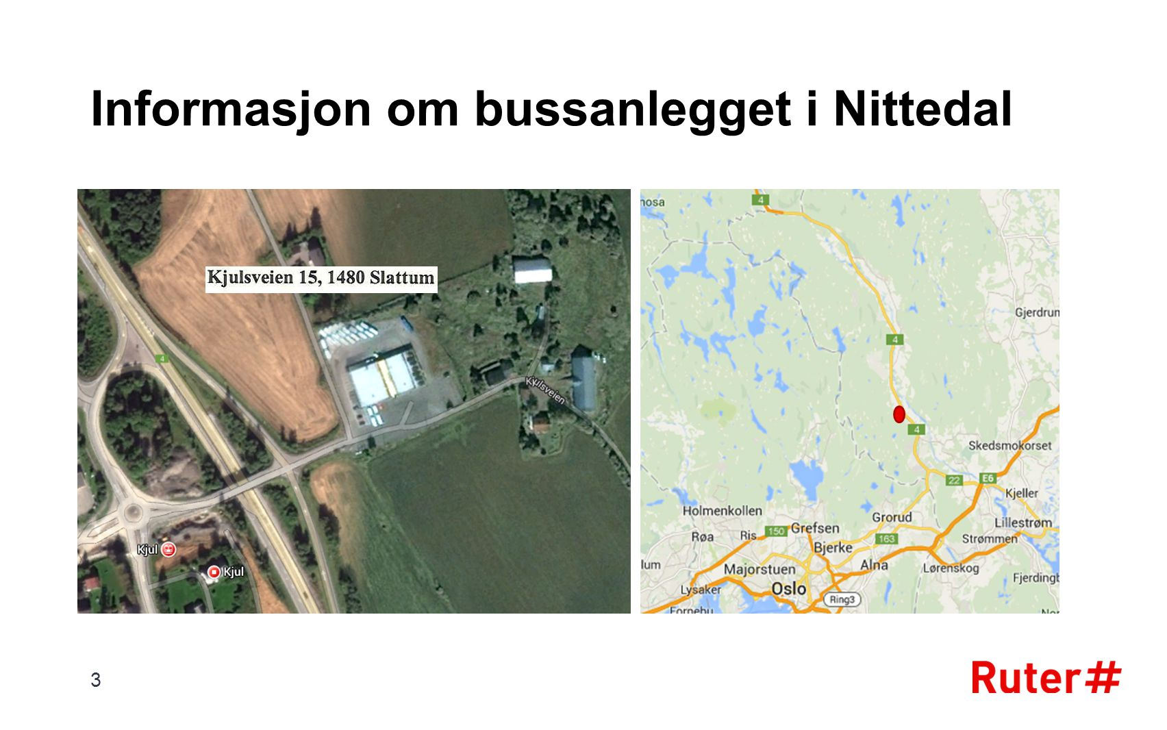 Informasjon om bussanlegget i Nittedal
