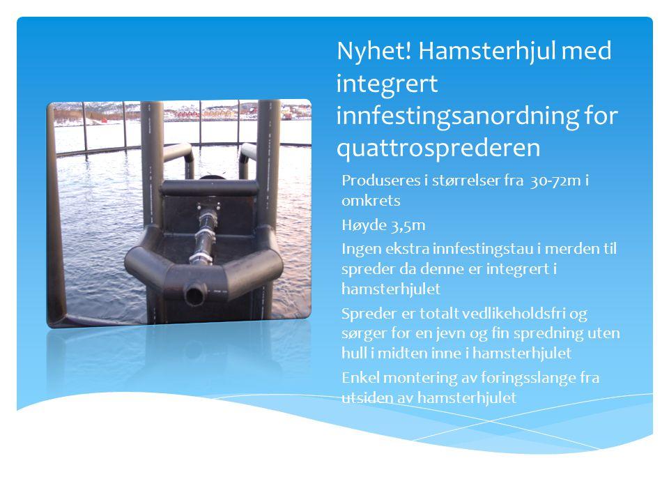 Nyhet! Hamsterhjul med integrert innfestingsanordning for quattrosprederen