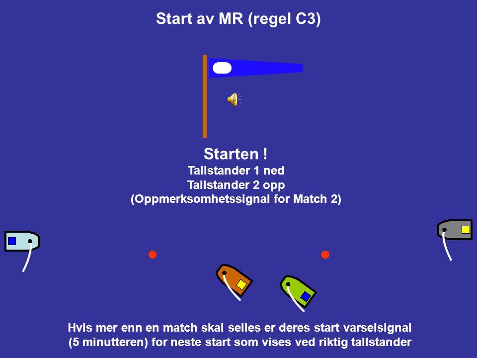 Start av MR (regel C3) Starten !