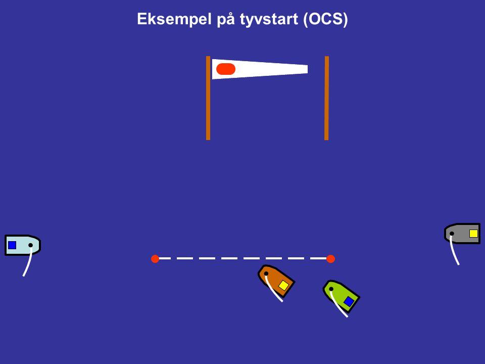 Eksempel på tyvstart (OCS)