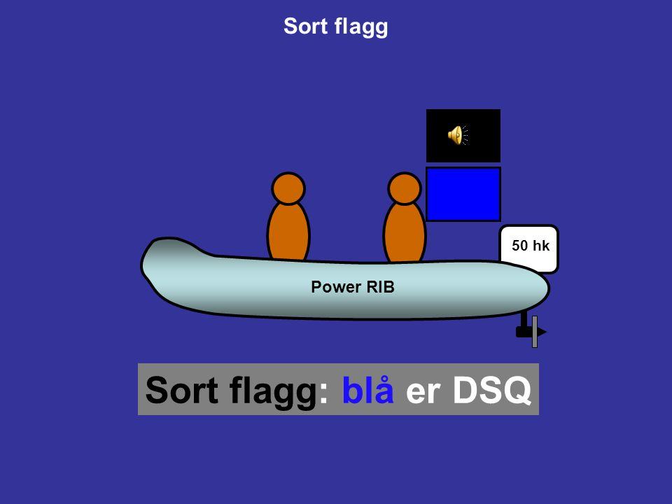 Sort flagg Power RIB 50 hk Sort flagg: blå er DSQ