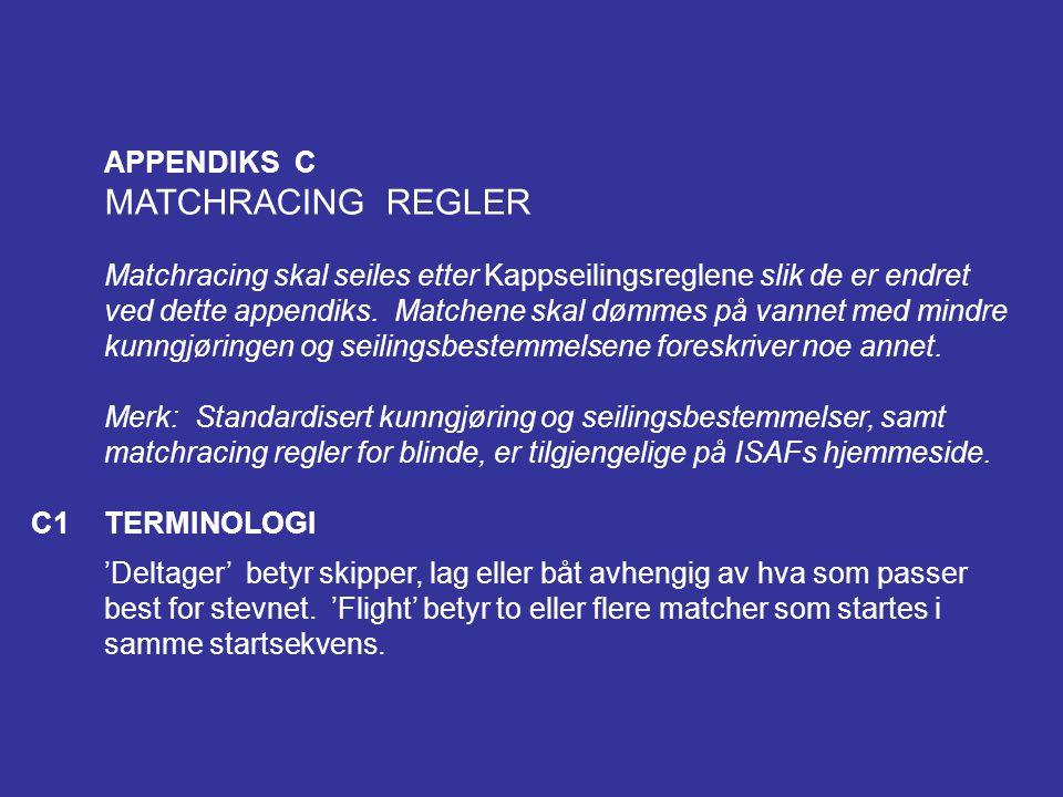 MATCHRACING REGLER APPENDIKS C