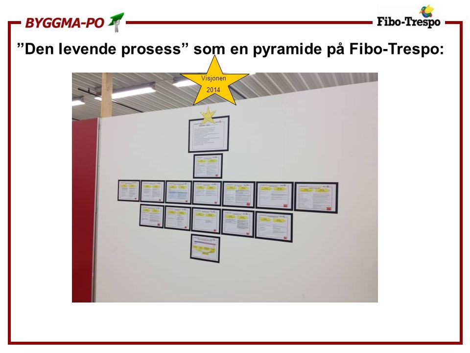 Den levende prosess som en pyramide på Fibo-Trespo: