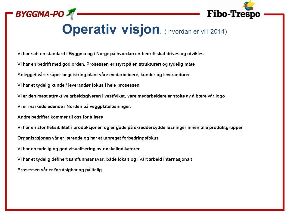 Operativ visjon. ( hvordan er vi i 2014)