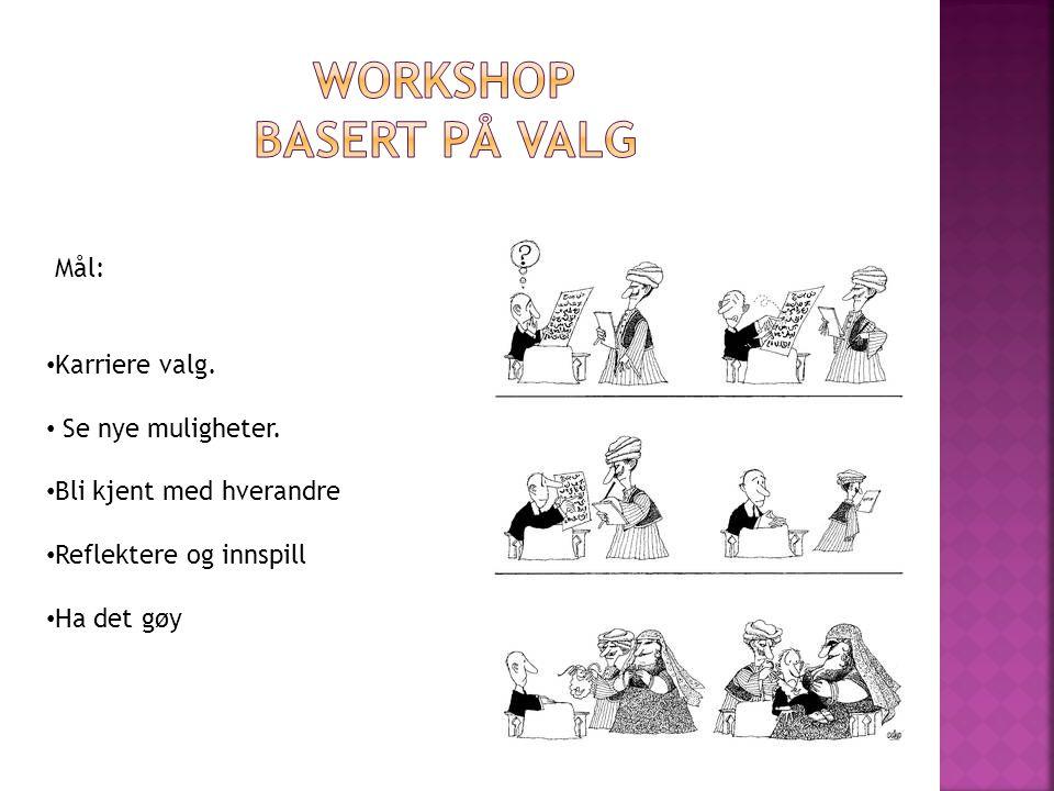 Workshop Basert på valg