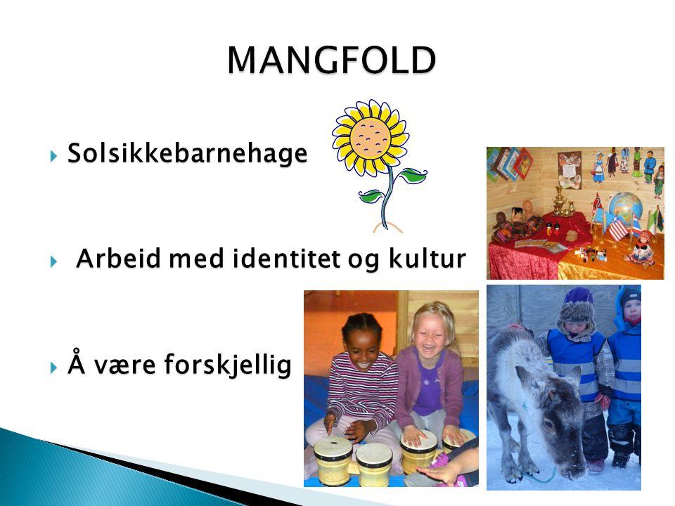 MANGFOLD Solsikkebarnehage Arbeid med identitet og kultur