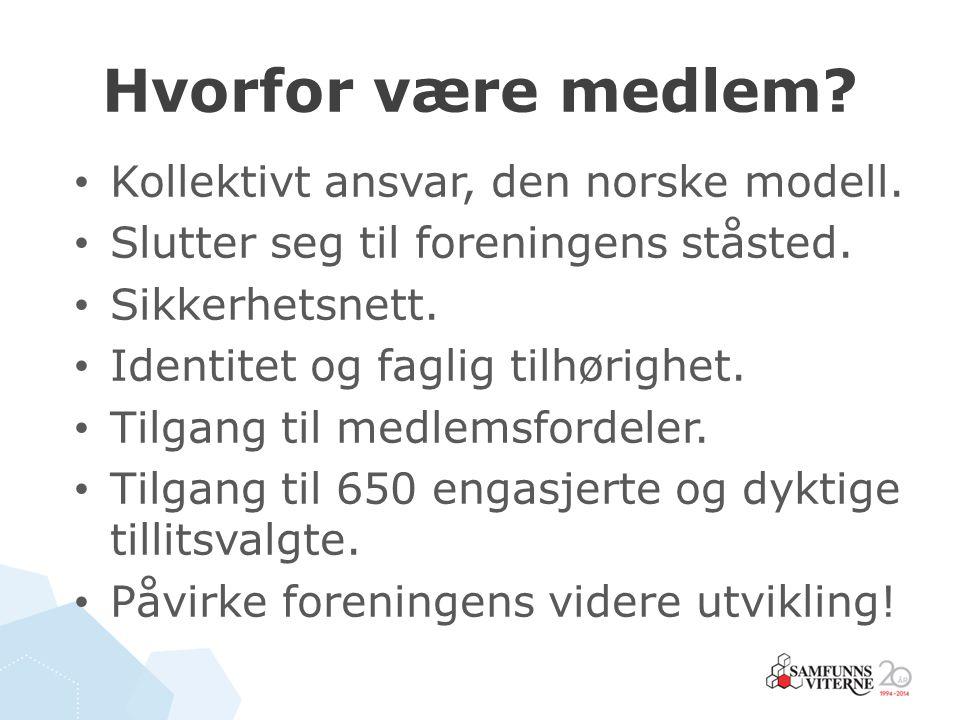 Hvorfor være medlem Kollektivt ansvar, den norske modell.