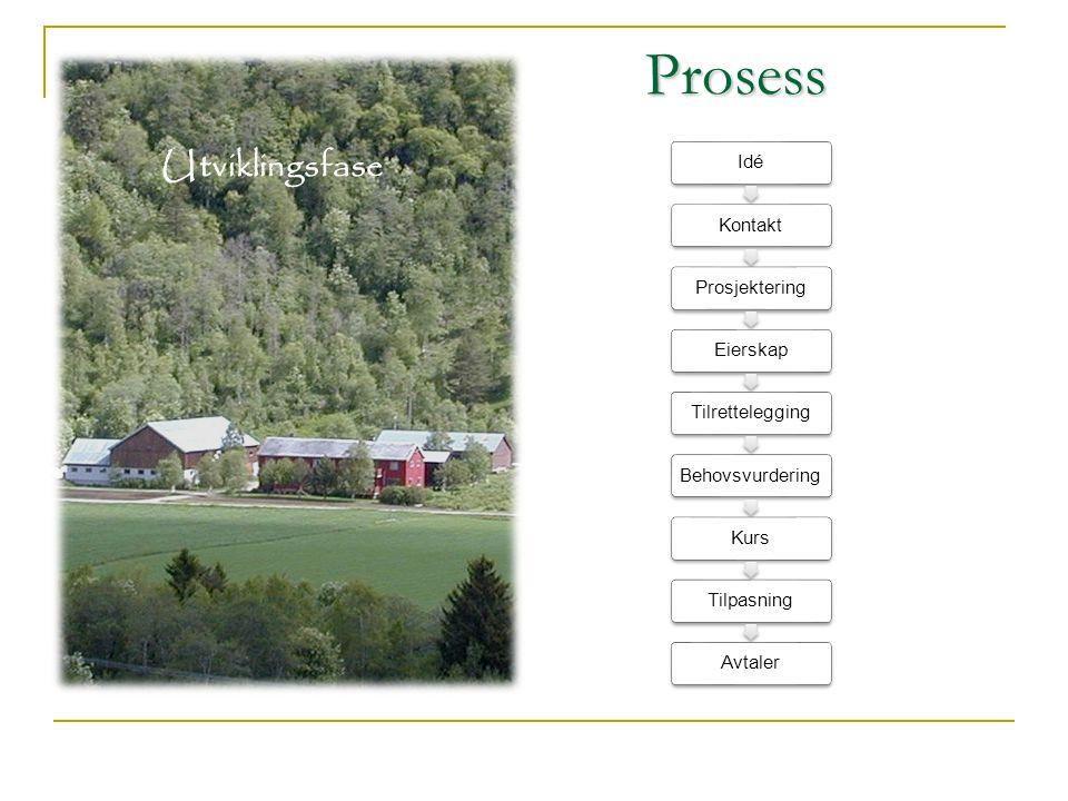 Prosess Utviklingsfase 14 Idé Kontakt Prosjektering Eierskap