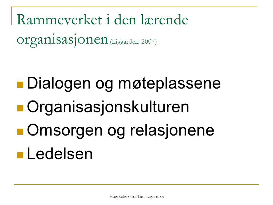 Rammeverket i den lærende organisasjonen (Ligaarden 2007)