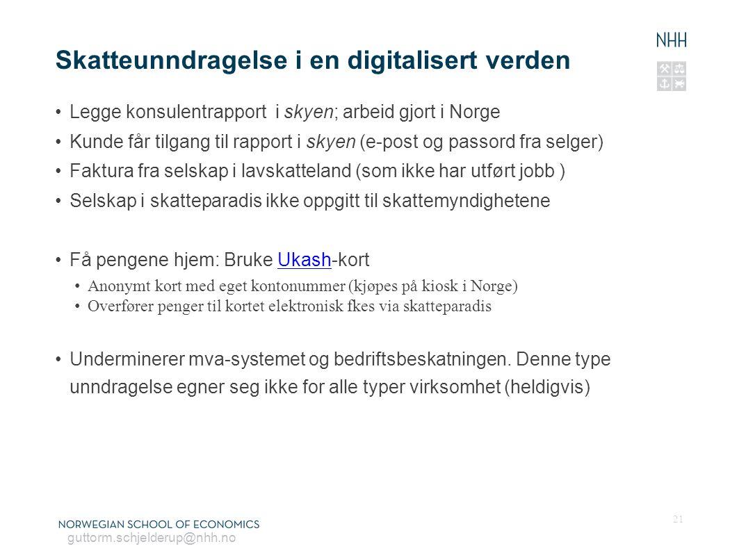 Skatteunndragelse i en digitalisert verden