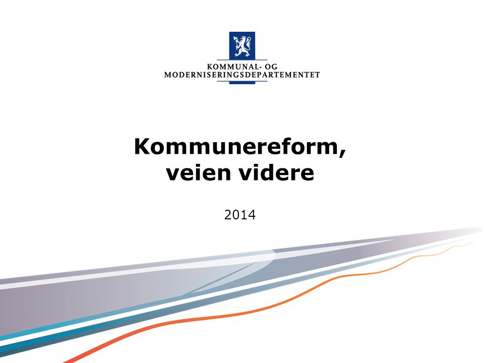 Kommunereform, veien videre