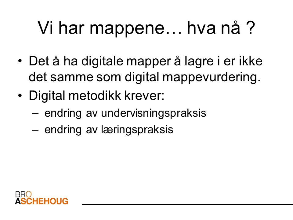 Vi har mappene… hva nå Det å ha digitale mapper å lagre i er ikke det samme som digital mappevurdering.