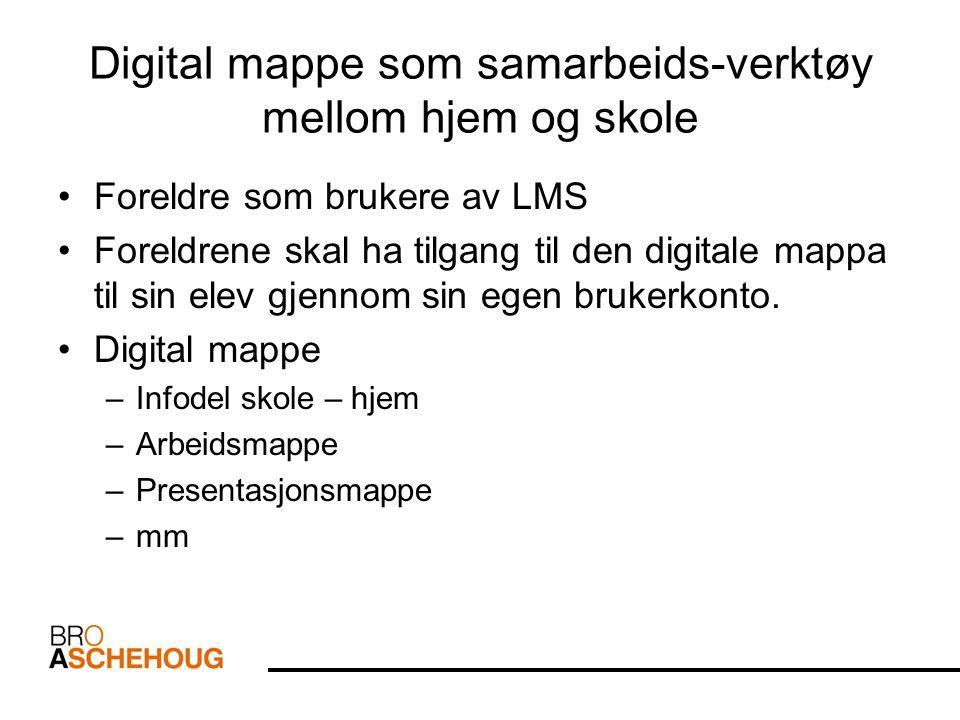 Digital mappe som samarbeids-verktøy mellom hjem og skole
