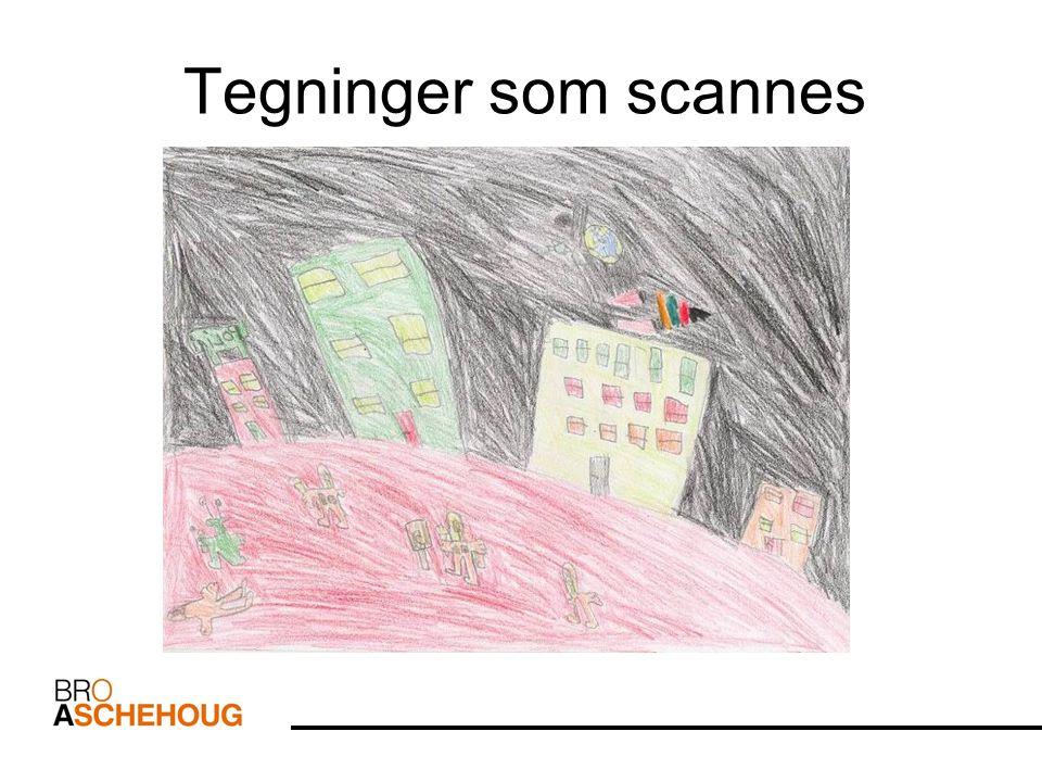 Tegninger som scannes