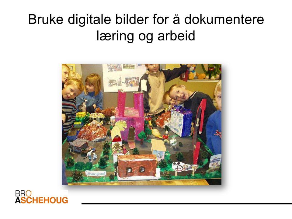 Bruke digitale bilder for å dokumentere læring og arbeid