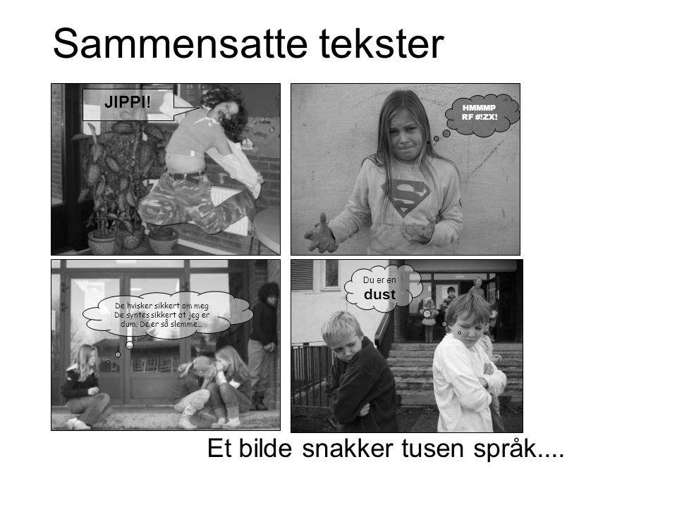 Sammensatte tekster Et bilde snakker tusen språk.... JIPPI! dust